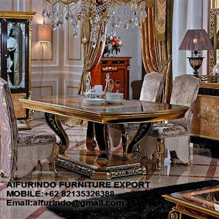 DINING TABLE CLASSIC FURNITURE,ANTIQUE MAHOGANY REPRODUCTION,WHITE FRENCH FURNITURE,CLASSIC GOLD AND SILVER LEAF FURNITURE,CODE  07 Classic French Furniture,Aifurindo sell Classic Furniture and Antique reproduction Mahogany furniture from Supplier Jepara furniture and Exporter Indonesia Furniture,indonesia Furniture Wholesaler,Manufacture Indoor Furniture and best Factory Indonesia Furniture