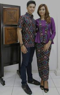 Model baju batik couple untuk pesta