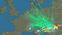 Mappa dei fulmini in tempo reale