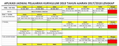 Aplikasi Jadwal Pelajaran Kurikulum 2013 Tahun Ajaran 2017/2018 Lengkap