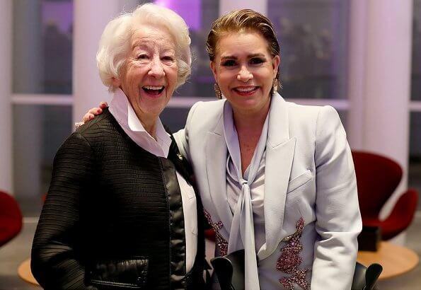 Grand Duchess Maria Teresa wore Alexander McQueen embroidered blazer. Princess Stephanie and Princess Alexandra