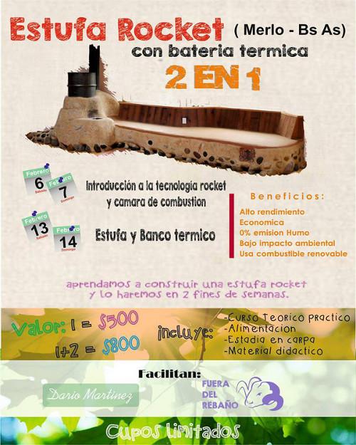 Curso de construcción de estufas rocket en Argentina