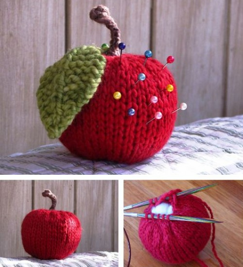 Apple Knitting Pattern Tutorial