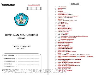 Kumpulan Administrasi Kelas Terlengkap Tahun 2017