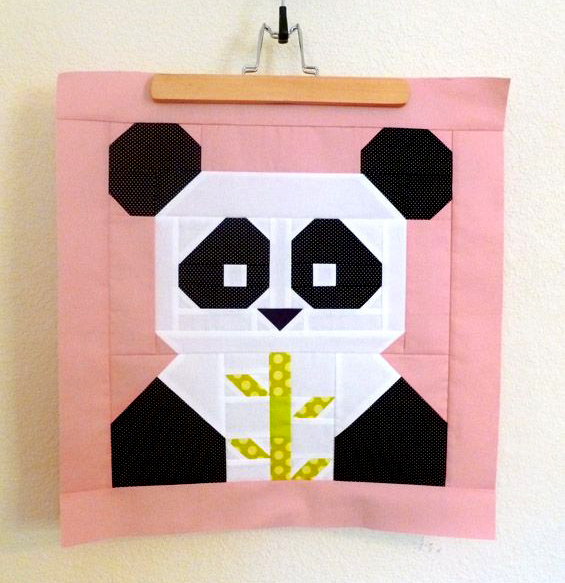 Panda-Monium Mini Quilt Free Pattern