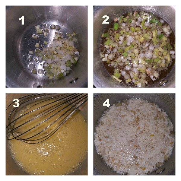 Step by Step pictures of how to make Egg Drop Soup