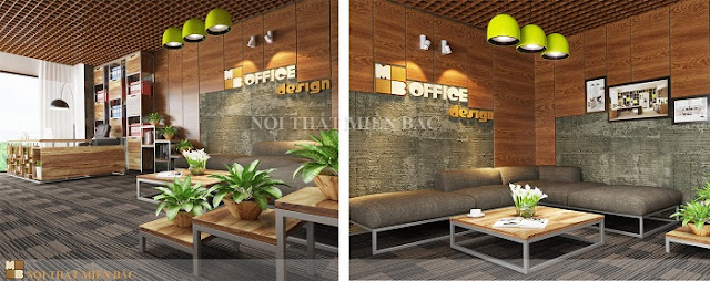 Thiết kế văn phòng Hà Nội với không gian xanh thật tinh tế - H2