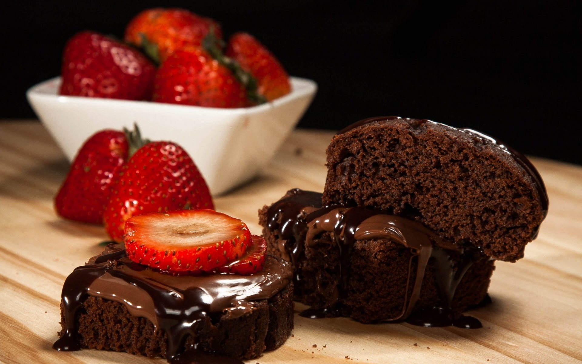 Chocolate Strawberry Cake Full Hd Desktop Wallpapers 1080p