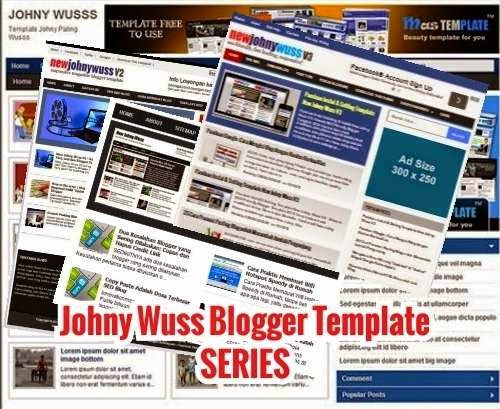 template blog johny wuss series