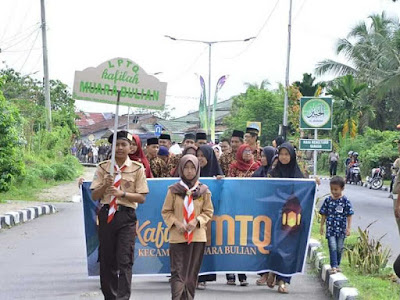 Pawai Ta'ruf MTQ ke 50 Tingkat Kabupaten Batang Hari Meriah
