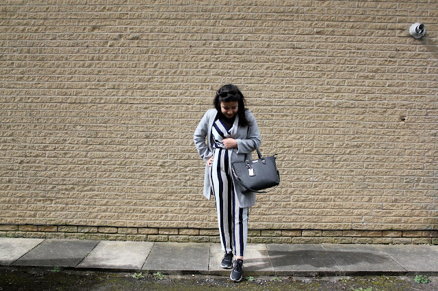 Ways to wear a striped jumpsuit