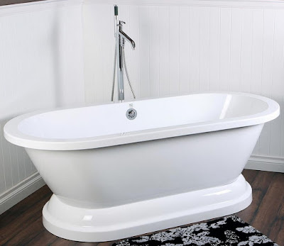 Double ended pedestal bathtub tubs acrylic