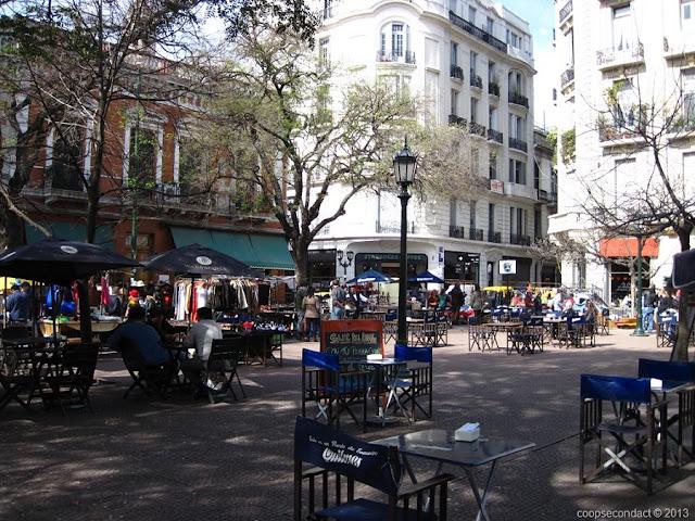 Plaza Dorrego em Buenos Aires