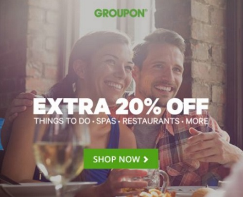 Groupon Extra 20% Off Local Deals Promo Code
