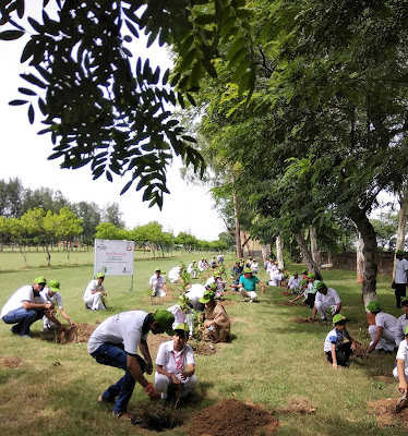 Tree planting in Delhi NCR for Hero MotoCorps Happy Earth CSR activity