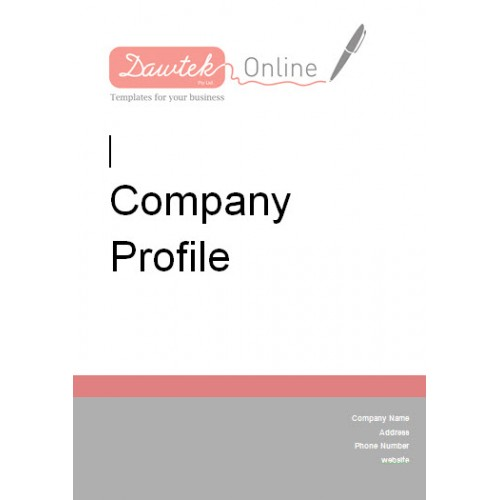 Sample company profile template doc sample company profile template doc friedricerecipe Image collections