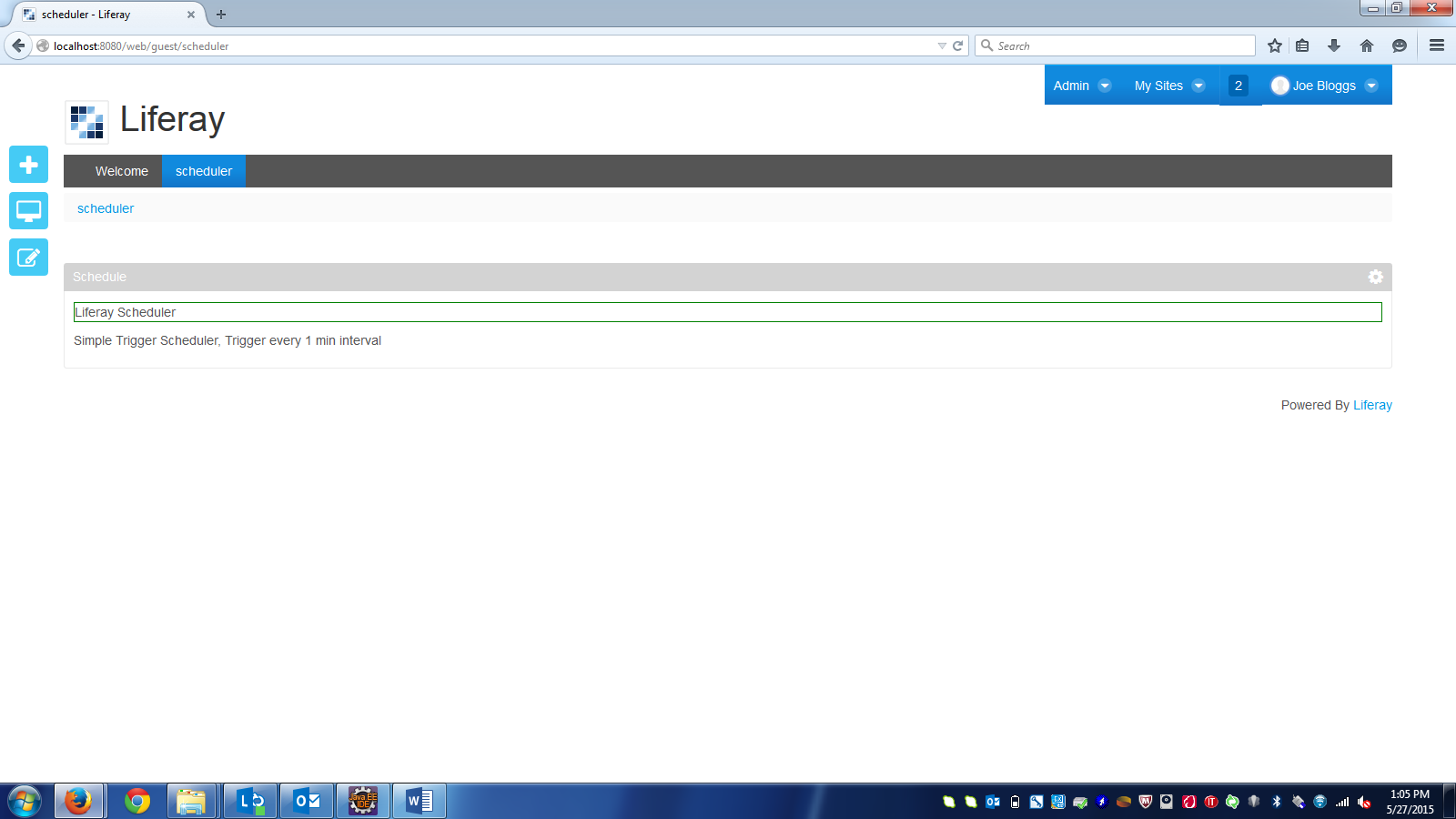 Scheduler In Liferay ~ Getting into Liferay