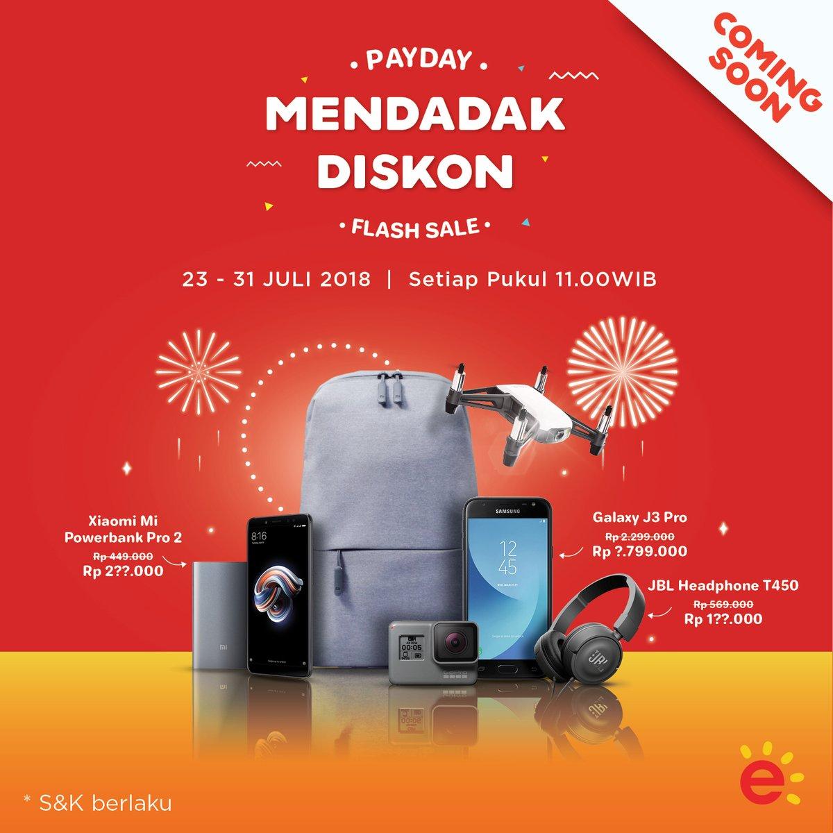 Erafone - Promo Pay Day Mendadak Diskon (23 - 31 Juli 2018)