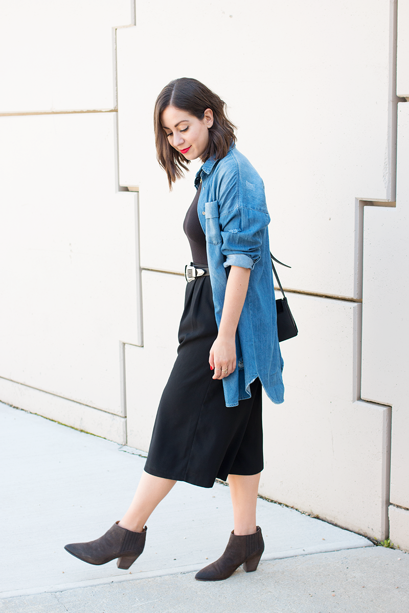 Styling an oversized, man-repelling outfit