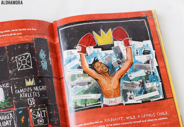 Radiant Child: The Story of Young Artist Jean-Michel Basquiat by Javaka Steptoe is an art history biography picture book that won the Caldecott Medal for 2017.  The illustrations are excellent and worthy of the medal.  The story text leaves the reader confused b/c of the story's lack of depth. Excellent book for art teacher and good library collection choice for any school library or juvenile collection. Books, picture books, award winners, non-fictions. Great book. Alohamora Open a Book http://alohamoraopenabook.blogspot.com/