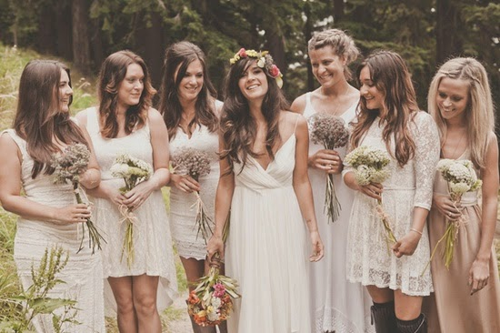 Mix and Match Bridesmaid Dresses