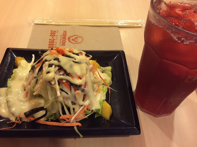Kani Salad (Php 69)- perfect for those on diet hihihi! It has lettuce, Japanese dressing, cucumber, carrots, mango, seaweeds, fish roe (tobiko)