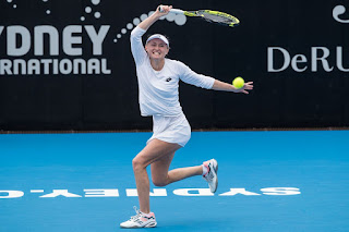 Aliaksandra Sasnovich at 2019 Sydney International Tennis