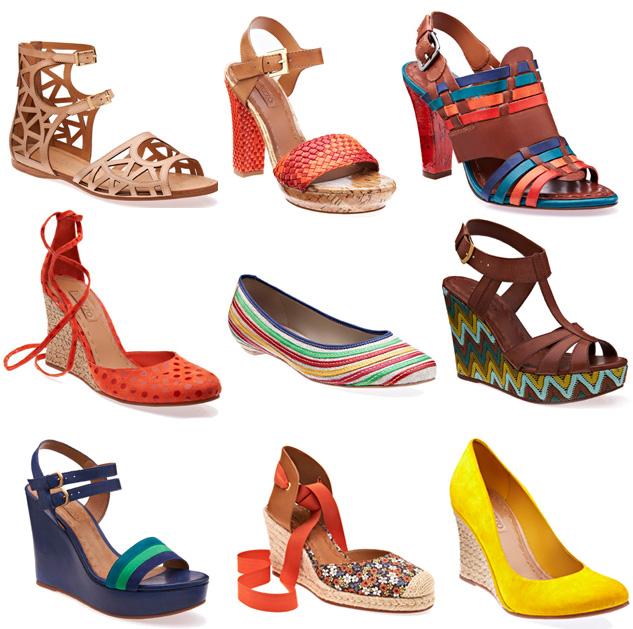 Resultado de imagem para imagens de calçados em cores quentes