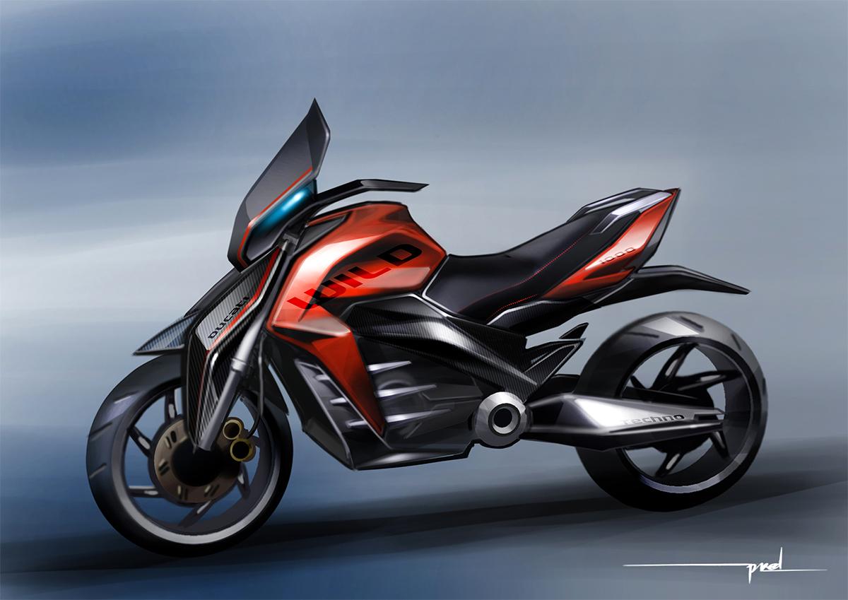Ducati Multistrada Concept Sketch I Draw Motorbikes