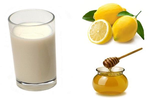 تفتيح البشرة قناع الحليب ، وعصير الليمون ، والعسل