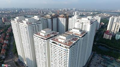 Tổ hợp chung cư HH Linh Đàm với mật độ dày đặc