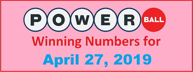 PowerBall Winning Numbers for Saturday, April 27, 2019