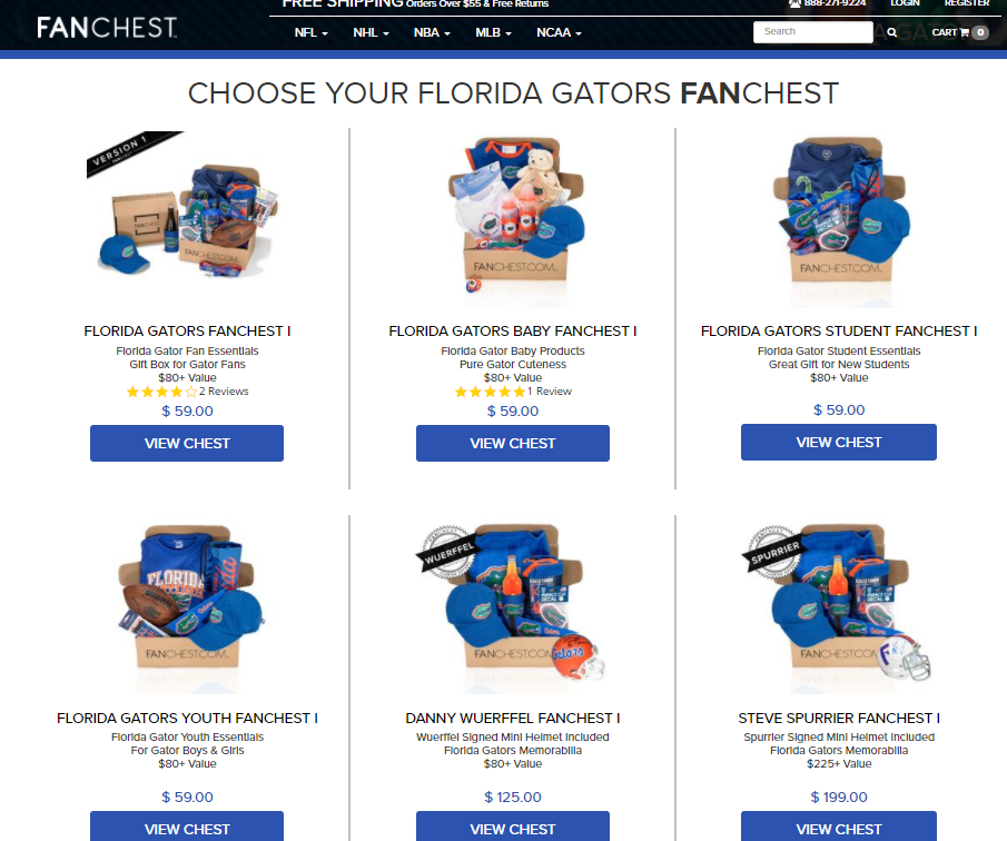 florida gators sports fan box gift