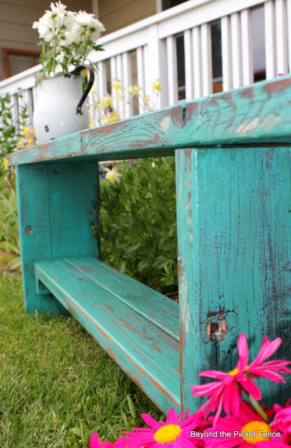 Make a Bench from an Old Picnic Table
