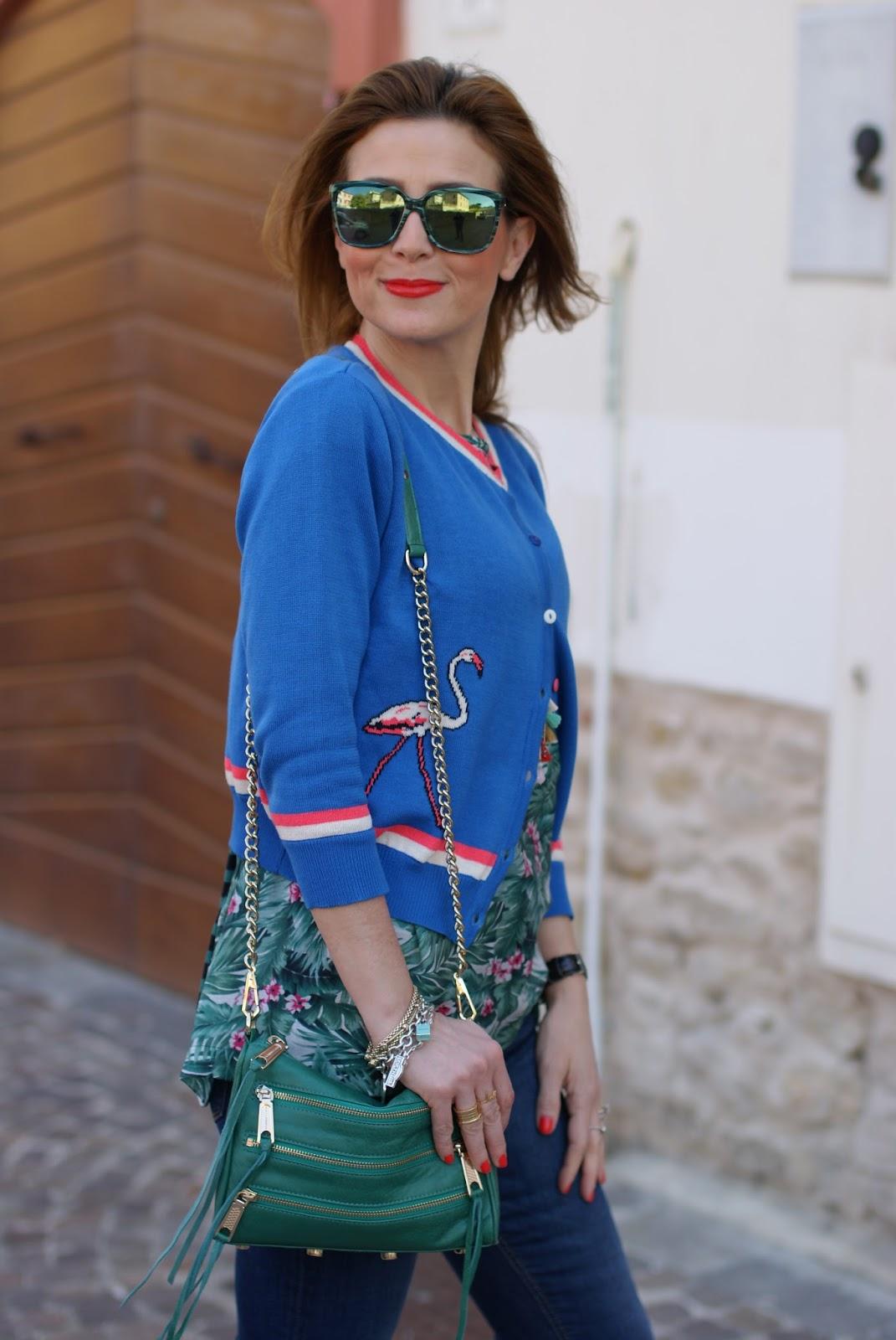 Bryony Flamingo cardigan on Fashion and Cookies fashion blog, fashion blogger style