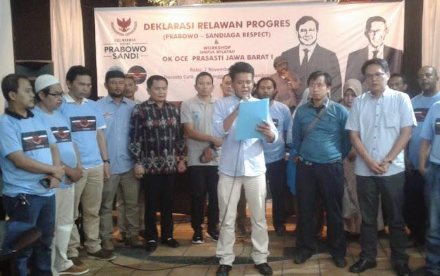 Deklarasi Relawan Progres (Prabowo Sandi Respect)