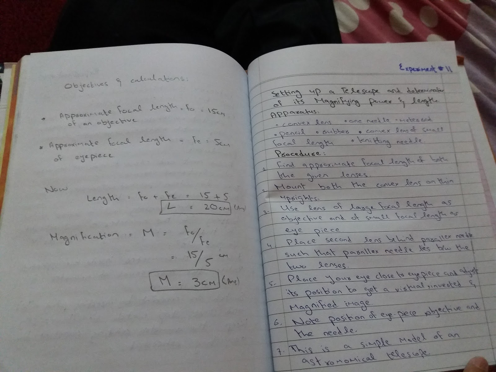 Solved Physics Practicals for 1st year/class 11 fbise