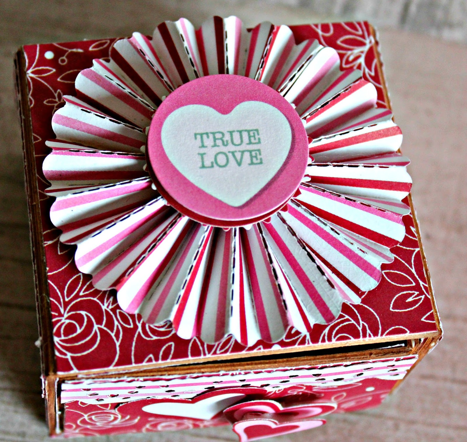 Forever And Always Sweetheart Valentine Candy Box And Flap
