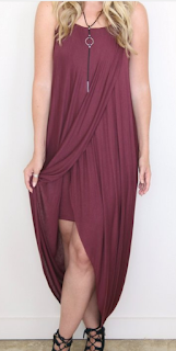 madison + mallory burgundy wrap dress