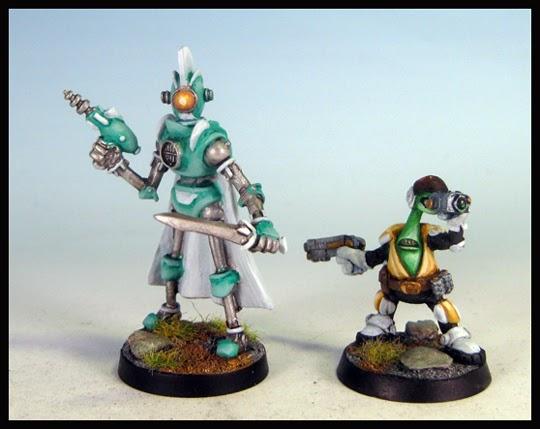 Pulp Sci-Fi Robot Centurions : Painted Hydra Miniatures
