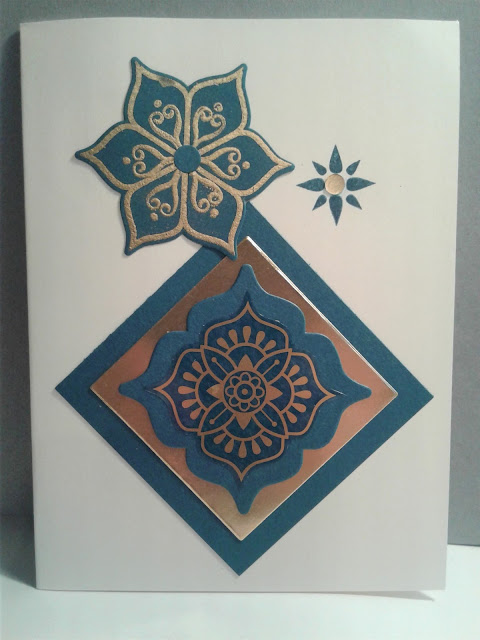 Eastern Beauty, Eastern Medallions, Stampin Up, 2017 Catalog, gold vinyl stickers, gold embossing