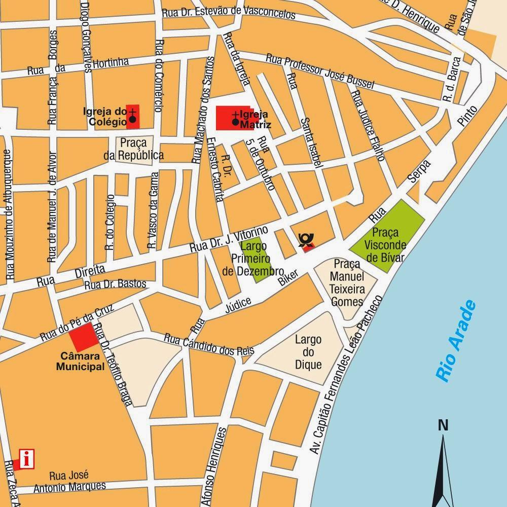 mapa das ruas de portimão Mapas de Portimão   Portugal | MapasBlog mapa das ruas de portimão