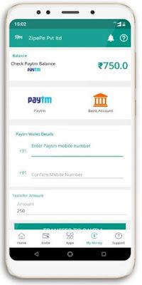 Zipepe App Rs.50 Sign Up Bonus + Rs.5 PayTM/Refer Code