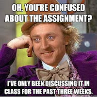 Confused about the assignment? Why don't you pay better attention then!