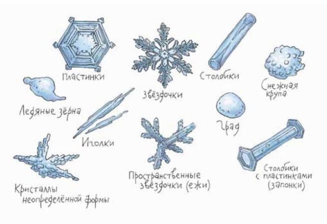 Виды снежинок