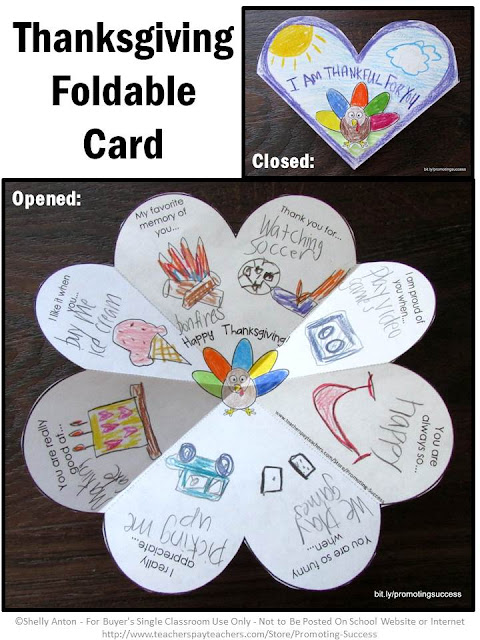 Thanksgiving Craft for kids foldable card give thanks