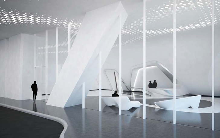 Office in One Thousand Museum by Zaha Hadid Architects