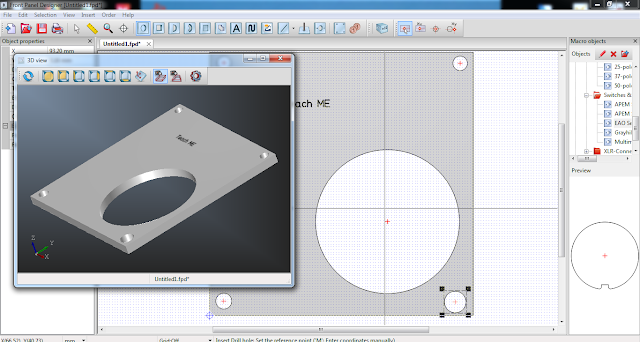 Screenshot Front Panel Designer (3D View)