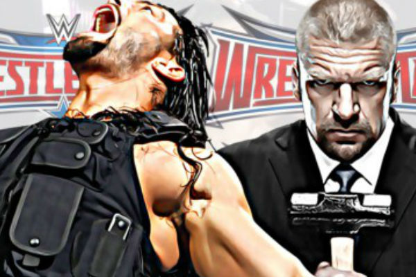 WWE Wrestlemania 32 Main Event 2016 Triple H Vs Roman Reigns