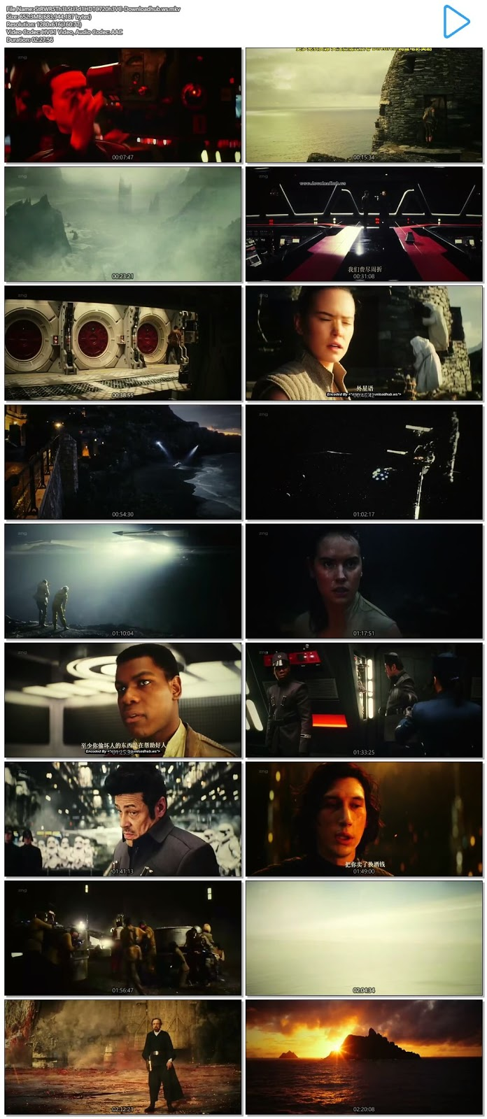 Star Wars The Last Jedi 2017 Hindi Dual Audio 720p HEVC HDTC Download
